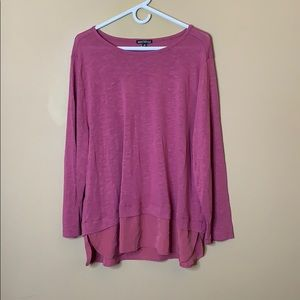 J. Crew Mercantile pink layered top